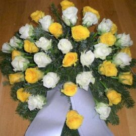 Bukett Rosen gelbweiss